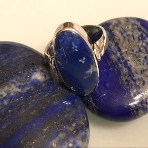 Sterling Silver 2 Sided Flip Lapis Malachite Ring